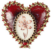Jay Strongwater Jeweled Enamel Oval Heart Frame
