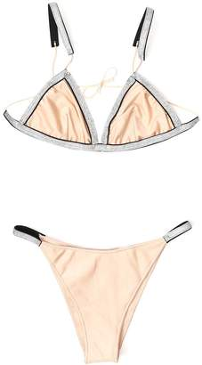 Oseree Embellished Trim Bikini