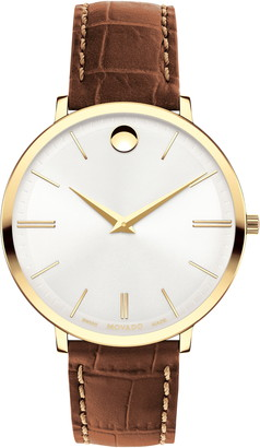 Movado Women's Shell Leather Strap Watch, 35mm