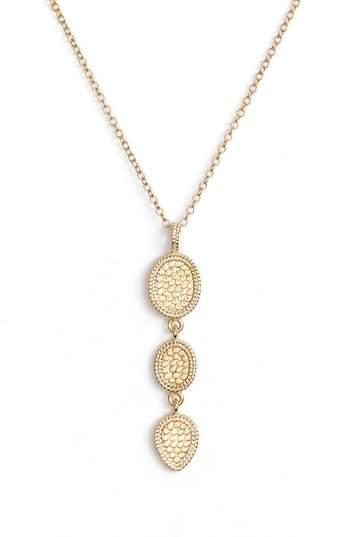 Anna Beck Gold Triple Drop Pendant Necklace