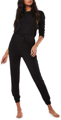 Missguided Lounge Stretch Cotton Jumpsuit