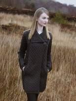 West End 100% Irish Merino Wool Single Button Ladies Plated Coat by Westend Knitwear