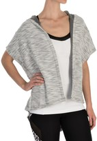 Steve Madden Oversized Hooded Wrap Top - Short Sleeve (For Women)