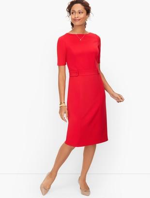 Talbots Italian Luxe Knit Bateau Neck Sheath Dress