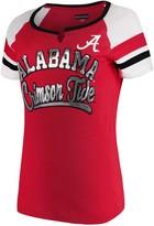 New Era Women's 5th & Ocean by Crimson Alabama Crimson Tide Baby Jersey Split Scoop Neck Ringer T-Shirt