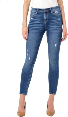 Liverpool Los Angeles Abby Distressed Skinny Jeans
