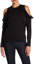 Ten Sixty Sherman Ruffle Cold Shoulder Fleece Pullover