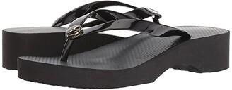 Tory Burch Wedge Flip-Flop (Black/Black 2) Women's Sandals
