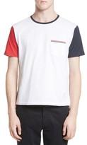 Thom Browne Men's Funmix Jersey Pocket T-Shirt