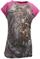 Carhartt Green & Pink Realtree® Xtra Force Camo Raglan - Girls