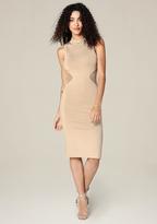 Bebe Knit Mock Neck Dress