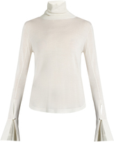 Chloé Roll-neck wool, silk and cashmere-blend sweater