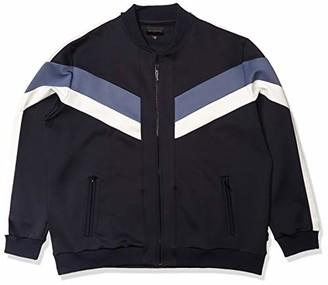 Sean John Men's Zip Up Colorblocked Neoprene Track Jacket