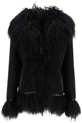 Saks Potts Bon Shearling Coat With Fur