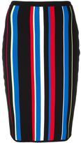 Versace high-waist striped effect skirt - women - Viscose/Polyester - 42