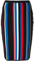 Versace high-waist striped effect skirt