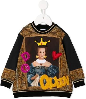 Dolce & Gabbana Oversized Appliqued Sweatshirt