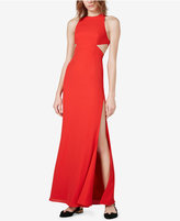 Fame and Partners Crisscross-Back Cutout Gown