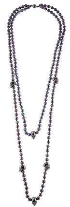 Alexander McQueen Pearl & Skull Double Strand Necklace
