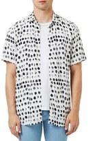 Topman Fingerprint Short Sleeve Shirt