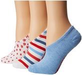 Converse Chucks Americana Stars 3-Pair Pack Women's No Show Socks Shoes