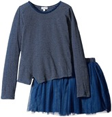 Splendid Littles Indigo Tutu Dress Stripe Print (Little Kids)