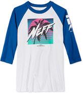 Neff Men's Raglan-Sleeve Graphic-Print T-Shirt