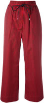 3.1 Phillip Lim striped cropped trousers - women - Silk/Cotton - 2