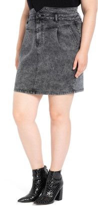 ELOQUII High Waist Denim Miniskirt
