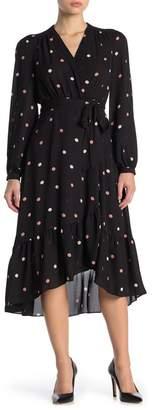 Kate Spade Bakery Dot Ruffle Wrap Midi Dress