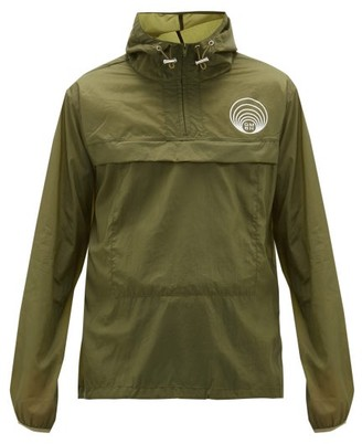 Gmbh - Half-zip Logo-print Windbreaker Jacket - Mens - Khaki