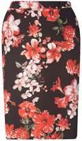 DP Curve Floral Scuba Skirt