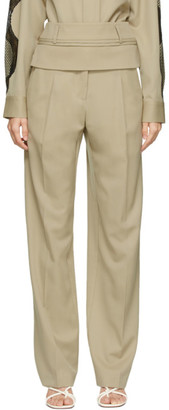 CHRISTOPHER ESBER Beige Double Belted Trousers