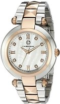 Cabochon Women's 16088-SG-22 Cairo Analog Display Quartz Two Tone Watch