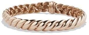 David Yurman Hampton Cable Bracelet In 18K Rose Gold, 8.5Mm