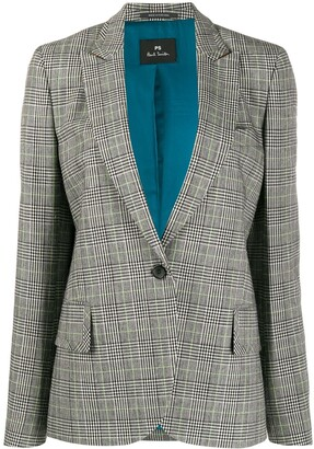 Paul Smith checked print single breasted blazer