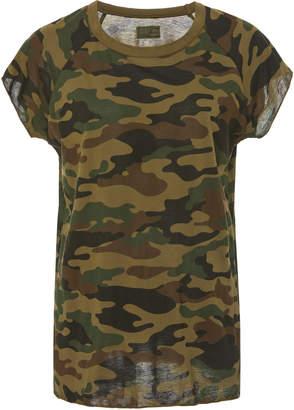 Nili Lotan Camouflage Cotton-Jersey T-Shirt