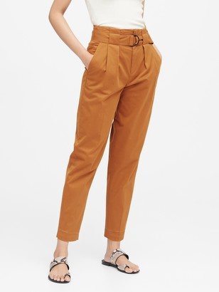 Banana Republic High-Rise Tapered Cropped Pant