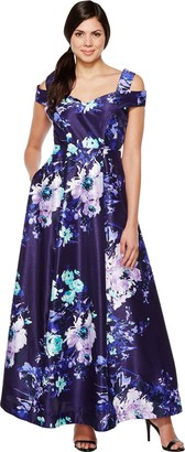 Sangria Women's Floral Gown
