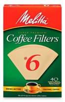 Melitta 40-Count Number 6 Super Premium Coffee Filters