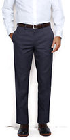 Lands' End Men's Pre-hemmed Plain Front Tailored Fit No Iron Chino Pants-Red Plaid