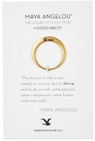 Dogeared Thrive Maya Angelou Legacy Collection Ring - Size 7