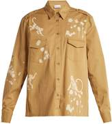 RED Valentino Monkey-print cotton military shirt