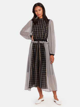 Stine Goya Felisa Long Sleeve Midi Dress