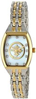 Game Time Women's NFL-WCL-PIT World Class Two-Tone Stones Analog Display Japanese Quartz Silver Watch
