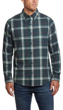 Weatherproof Vintage Men's Tartan Plaid Flannel Shirt
