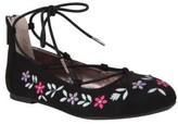 Nina Girl's Nelly Embroidered Ghillie Flat