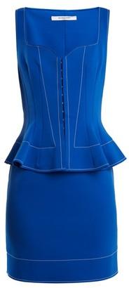 Givenchy Sweetheart-neck Peplum-waist Dress - Womens - Blue