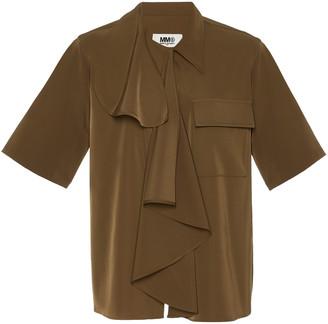 Maison Margiela Draped Crepe De Chine Shirt