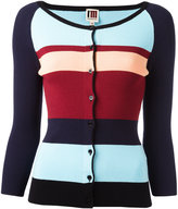 I'M Isola Marras colour block cardigan - women - Viscose/Polyester - L
